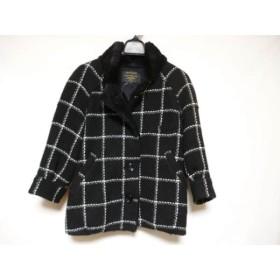 【中古】 アンタイトル UNTITLED コート サイズ2 M レディース 黒 白 ライトグレー