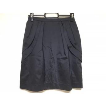 【中古】 ジャスグリッティー JUSGLITTY ミニスカート サイズ1 S レディース ネイビー