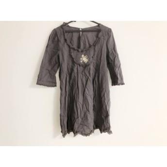 【中古】 シェリーラファム Cherir La Femme ワンピース サイズM レディース ダークグレー 刺繍