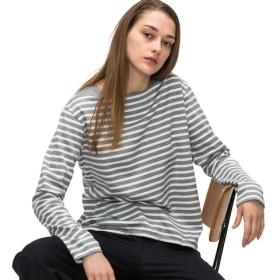 ボートネックボーダーバスクTシャツ(長袖)