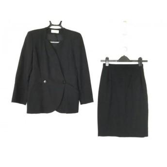 【中古】 モガ MOGA スカートスーツ レディース 美品 黒 肩パッド