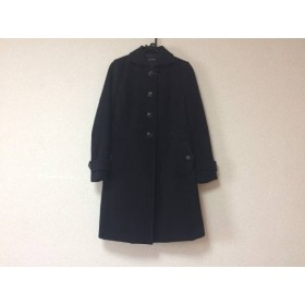 【中古】 マカフィ MACPHEE コート レディース 黒 冬物
