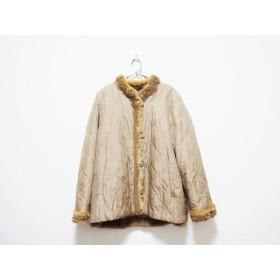 【中古】 バルマン BALMAIN コート サイズ11 M レディース ブラウン リバーシブル/冬物/シルク