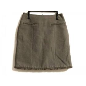 【中古】 フォクシー FOXEY ミニスカート サイズ38 M レディース グレーブラウン