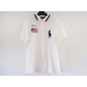 【中古】 ポロラルフローレン 半袖ポロシャツ サイズXL メンズ ビッグポニー 白 レッド ネイビー 星条旗