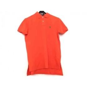 【中古】 ポロラルフローレン 半袖ポロシャツ サイズM メンズ 美品 オレンジ CUSTOM FIT/刺繍