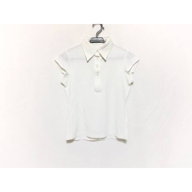 【中古】 セオリーリュクス theory luxe 半袖ポロシャツ サイズ38 M レディース アイボリー