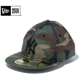 【メーカー取次】 NEW ERA ニューエラ MLB Retro Crown 59FIFTY ニューヨーク・ヤンキース ウッドランド 12018896 キャップ メンズ レトロクラウン 帽子