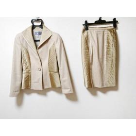 【中古】 ギンザマギー MAGGY スカートスーツ サイズ38 M レディース ベージュ 肩パッド