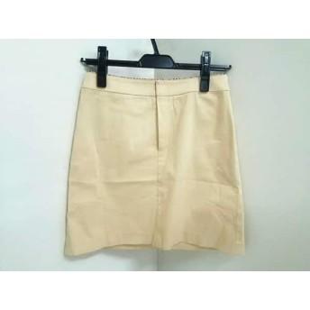 【中古】 バーバリーブルーレーベル スカート サイズ36 S レディース イエロー ベージュ マルチ