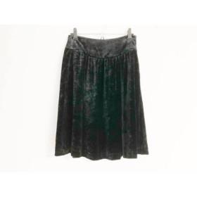 【中古】 セオリー theory スカート サイズX0 XL レディース 黒 ベロア