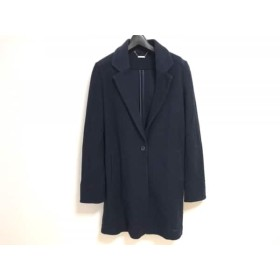 【中古】 ビッキー VICKY コート サイズ2 M レディース ネイビー 春・秋物 綿ポリエステル