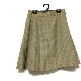 【中古】 スキャパ Scapa スカート サイズ40 XL レディース ベージュ マルチ チェック柄