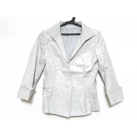 【中古】 ノーベスパジオ NOVESPAZIO ジャケット サイズ38 M レディース ライトグレー