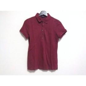 【中古】 バーバリーロンドン Burberry LONDON 半袖ポロシャツ サイズ1 S レディース ボルドー