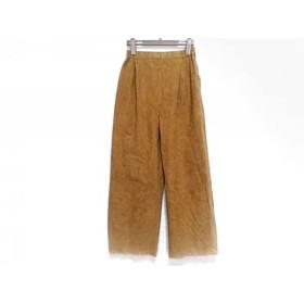 【中古】 フォクシー FOXEY パンツ サイズ40 M レディース ライトブラウン ウエストゴム