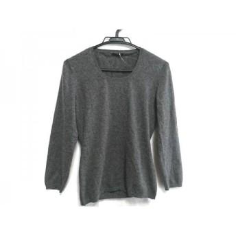 【中古】 バランタイン Ballantyne 長袖セーター サイズ38 M レディース ダークグレー カシミヤ
