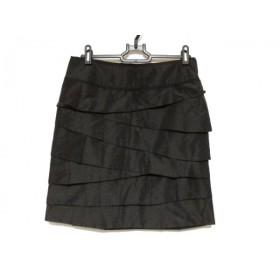 【中古】 ボディドレッシングデラックス スカート サイズ38 M レディース 黒 ティアード