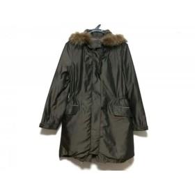 【中古】 ボールジー BALLSEY コート サイズ38 M レディース カーキ 冬物/ファー
