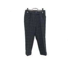 【中古】 スキャパ Scapa パンツ サイズ38 L レディース グレー ライトブルー ダークグレー チェック柄