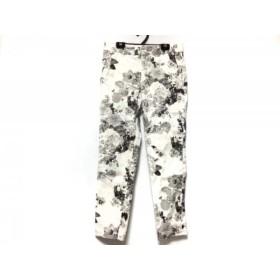 【中古】マカフィ MACPHEE パンツ サイズ36 S レディース 白xグレーxマルチ 花柄