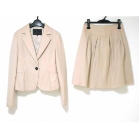 【中古】 アンタイトル UNTITLED スカートスーツ サイズ2 M レディース ベージュ