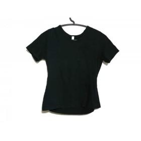 【中古】 ランダム RANDOM 半袖Tシャツ レディース 黒 ラインストーン
