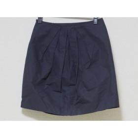 【中古】 パンセ Pensee スカート サイズ38 M レディース ネイビー