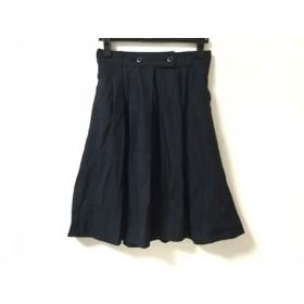 【中古】 マーガレットハウエル MHL. スカート サイズ1 S レディース ダークネイビー