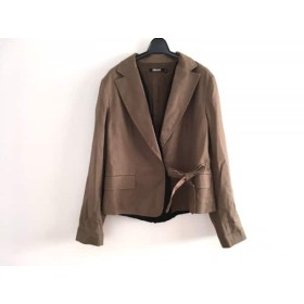 【中古】 ダナキャラン DKNY ジャケット サイズ14 XL レディース カーキ 黒
