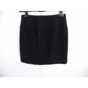 【中古】 インディビ INDIVI スカート サイズ40 M レディース 黒