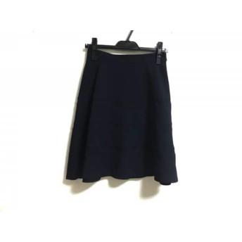 【中古】 ジャスグリッティー JUSGLITTY スカート サイズ1 S レディース 美品 ダークネイビー