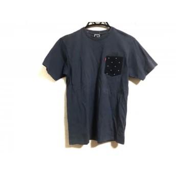 【中古】 ノースフェイス THE NORTH FACE 半袖Tシャツ メンズ ダークグレー 黒 ライトブルー ドット柄