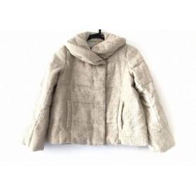 【中古】 アンタイトル UNTITLED ダウンジャケット サイズ0 XS レディース アイボリー 白 冬物