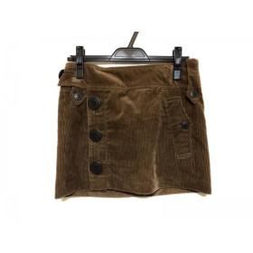 【中古】 バーバリーブルーレーベル Burberry Blue Label ミニスカート サイズ36 S レディース ブラウン