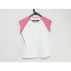 【中古】 セオリー theory 半袖Tシャツ レディース アイボリー ピンク