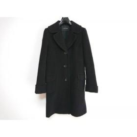 【中古】 イエガー JAEGER コート サイズ10 L レディース 黒 冬物