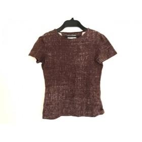【中古】 カステルバジャック Castelbajac 半袖Tシャツ レディース ブラウン 白