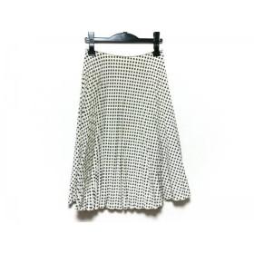 【中古】 ロイスクレヨン スカート サイズM レディース 美品 アイボリー グレー プリーツ/ドット柄