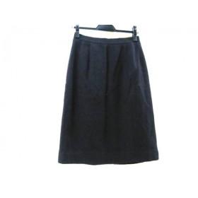 【中古】 アクアスキュータム Aquascutum スカート サイズ9 M レディース 黒