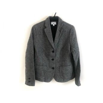 【中古】 イネスドゥラフレサンジュ ジャケット サイズL レディース 美品 黒 白 グレー UNIQLO