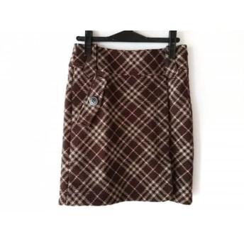 【中古】 バーバリーブルーレーベル スカート サイズ36 S レディース 美品 チェック柄