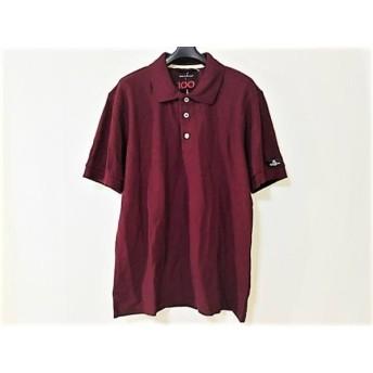 【中古】 ナイジェルケーボン NIGEL CABOURN 半袖ポロシャツ サイズ52 メンズ 美品 ボルドー タグ付き