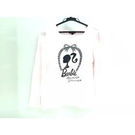 【中古】 バービー Barbie 長袖カットソー サイズ2 M レディース ピンク ブラック