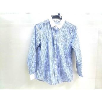 【中古】 ナチュラルビューティー ベーシック 長袖シャツ サイズS レディース 白 青