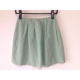 【中古】 スピック&スパン ノーブル Spick & Span Noble スカート サイズ38 M レディース ライトグリーン