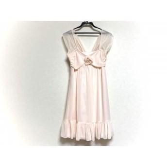【中古】 レッセパッセ ワンピース サイズ38 M レディース 美品 ピンク フラワー/フェイクパール