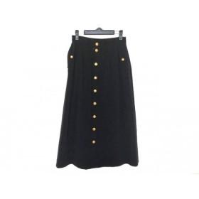 【中古】 バレンザポースポーツ ロングスカート サイズ40 M レディース 黒 刺繍/ラインストーン