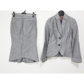 【中古】 アナディス d'un a dix スカートスーツ サイズ2 M レディース グレー デニム
