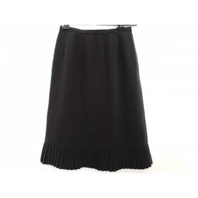 【中古】 レリアン Leilian スカート サイズ9 M レディース ダークブラウン プリーツ